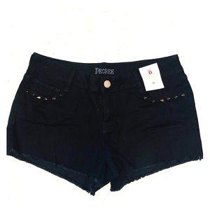 Decree black jean short shorts